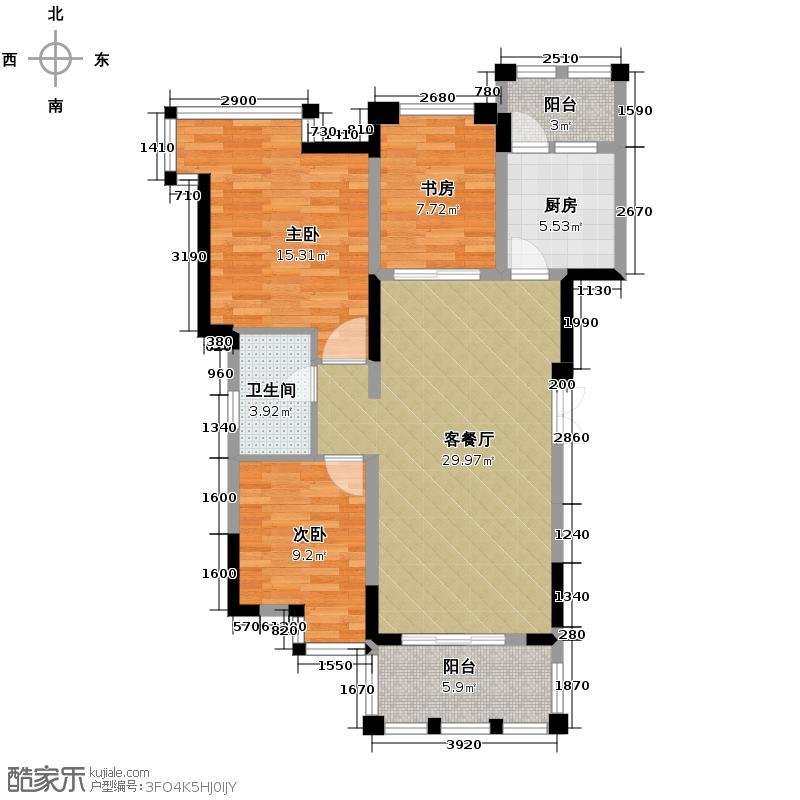 观城88.00㎡一期E4户型2室2厅1卫