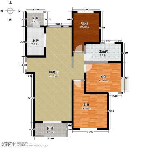 格调艺术领地3室2厅1卫0厨144.00㎡户型图