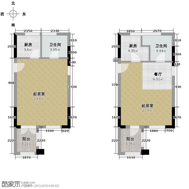 东原189151.52㎡一期7号楼4、17号房/12-17层1、8号房/18-20层户型1室1厅1卫