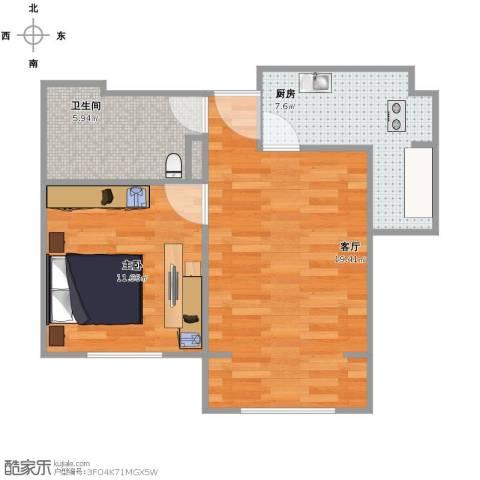喜蜜湾1室1厅1卫1厨61.00㎡户型图