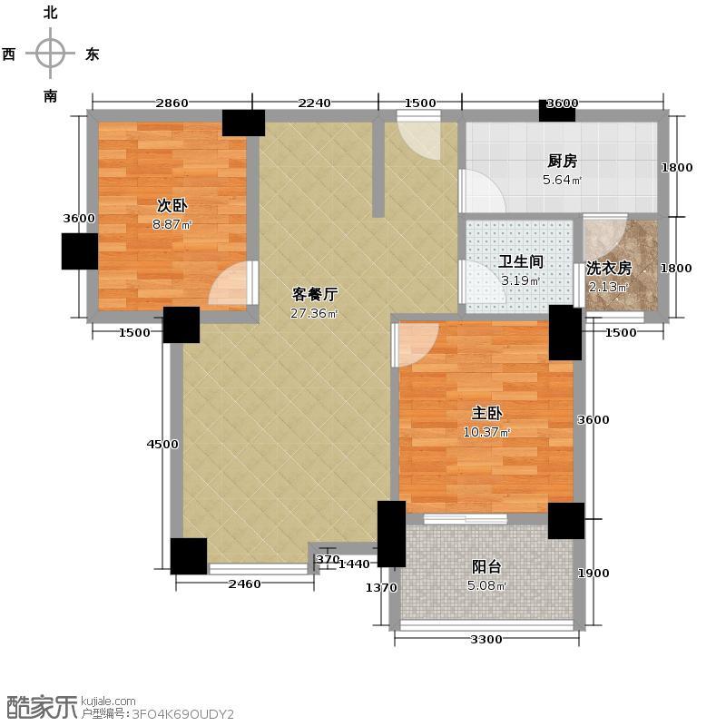 �口金利屋89.00㎡A4户型2室1厅1卫1厨