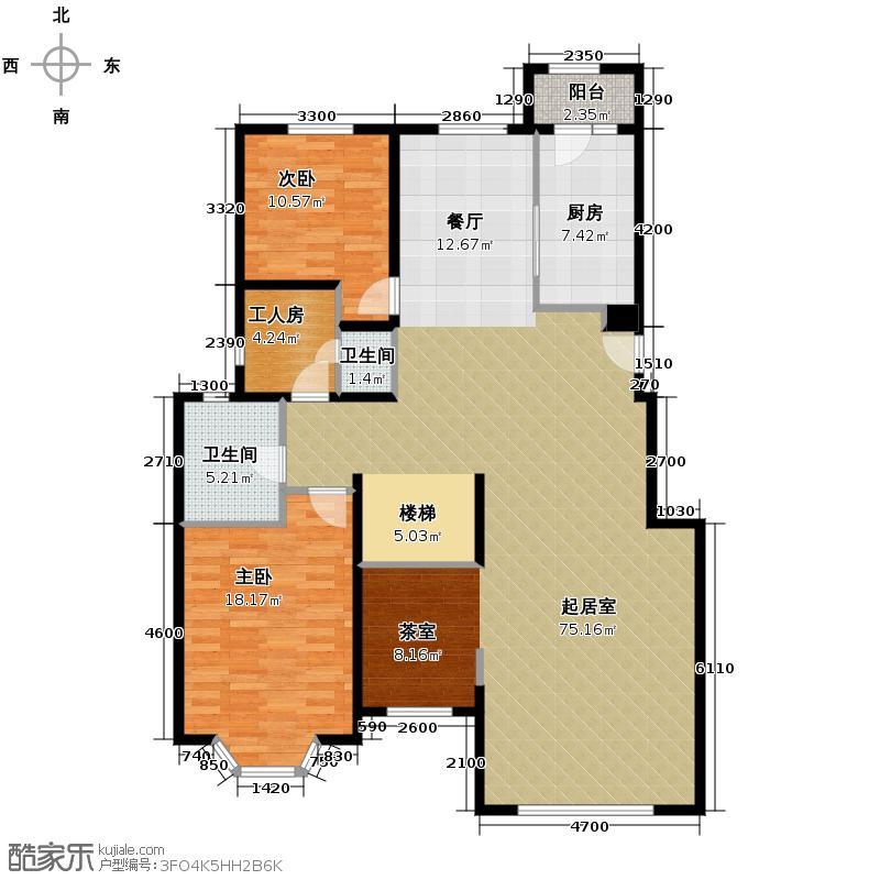 北京奥林匹克花园245.73㎡D1-1-SY下层户型10室