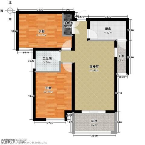 铂悦山2室2厅1卫0厨94.00㎡户型图