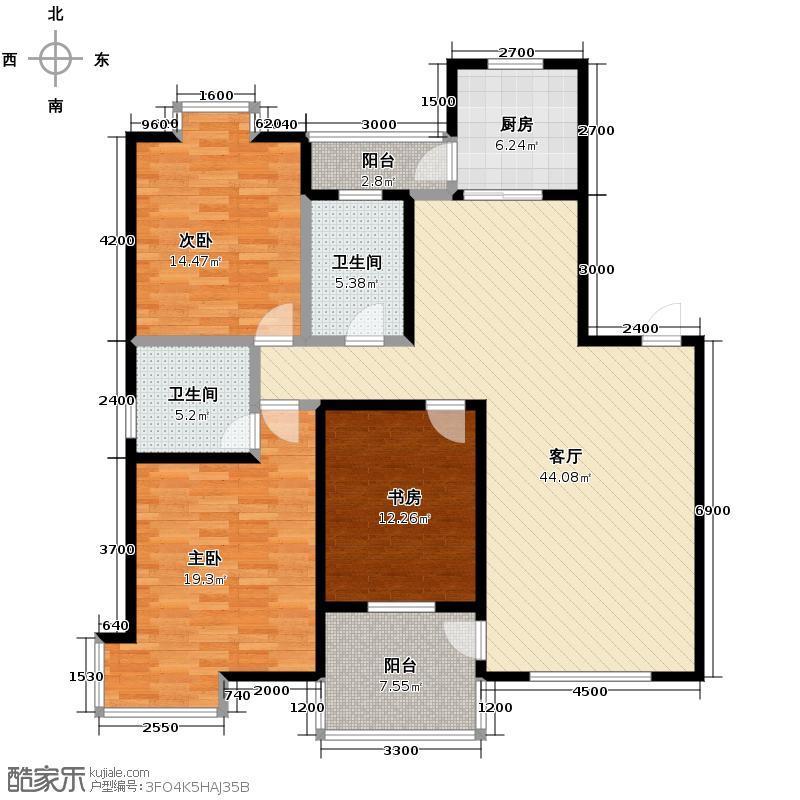 长安中央广场98.18㎡1/2号楼A户型10室