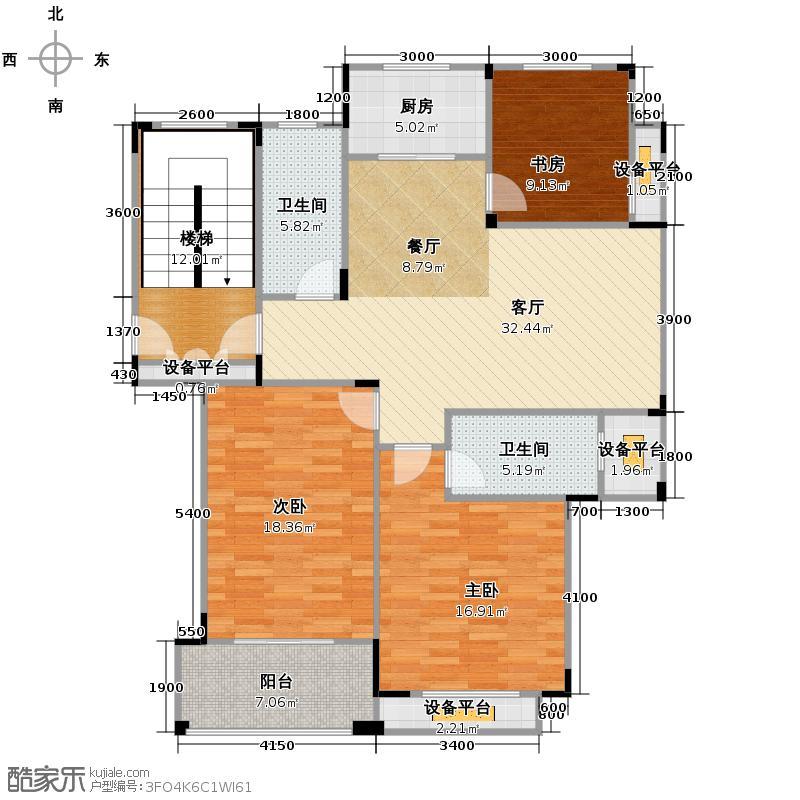 永安圆乡名筑113.04㎡D户型3室2厅2卫