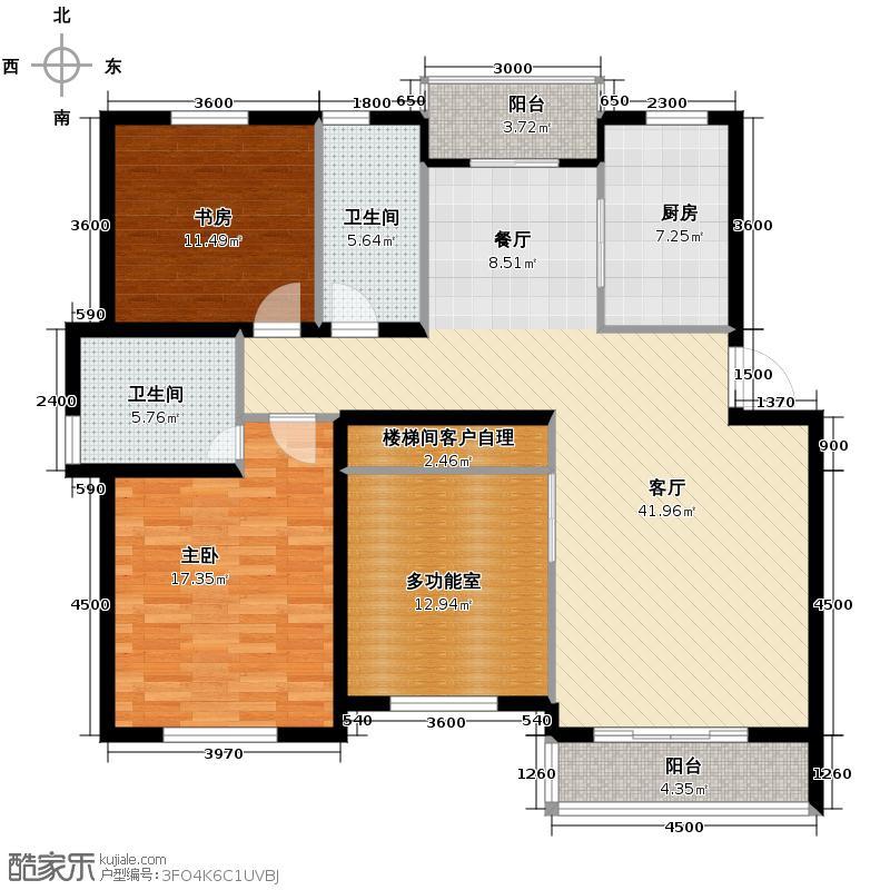 广大同城印象134.19㎡e五层或六层户型2室2厅2卫