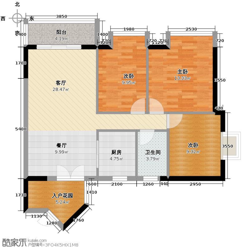 富力城88.98㎡3、4栋4号单卫户型10室