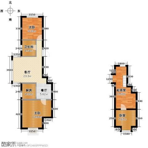 羽丰西江春晓2室1厅1卫1厨108.00㎡户型图