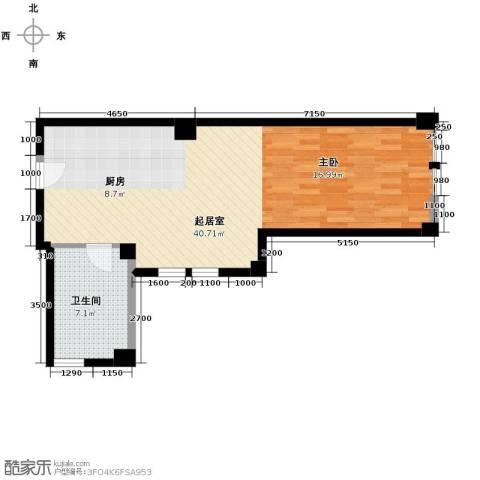 想想大厦1室1厅1卫0厨71.00㎡户型图