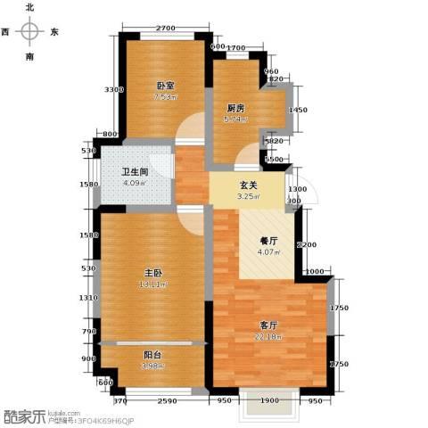 旭辉澜郡2室2厅1卫0厨84.00㎡户型图