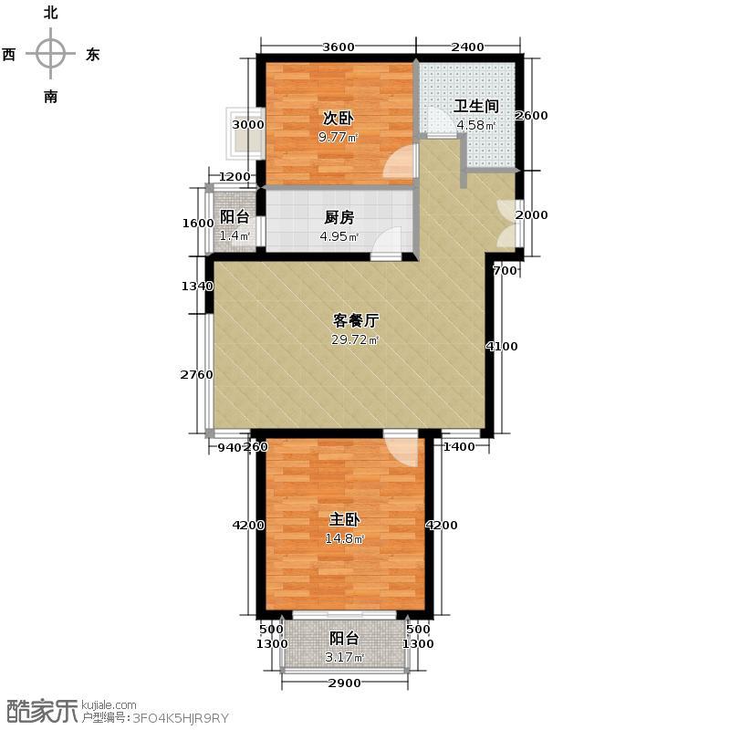 北京新天地100.94㎡二期13B户型10室
