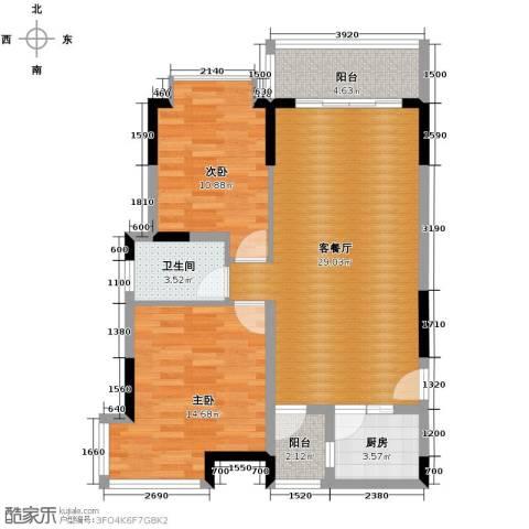 长城世家2室1厅1卫1厨98.00㎡户型图