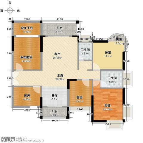 香缤雅苑1室0厅2卫1厨147.00㎡户型图