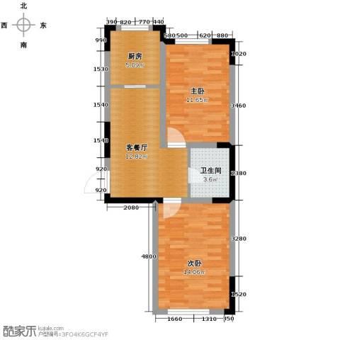 嘉元十方界2室1厅1卫0厨72.00㎡户型图