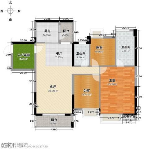 望龙轩3室2厅2卫0厨129.00㎡户型图