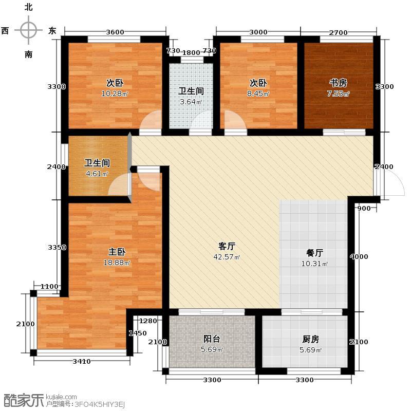 金辉天鹅湾125.00㎡美域户型4室2厅2卫