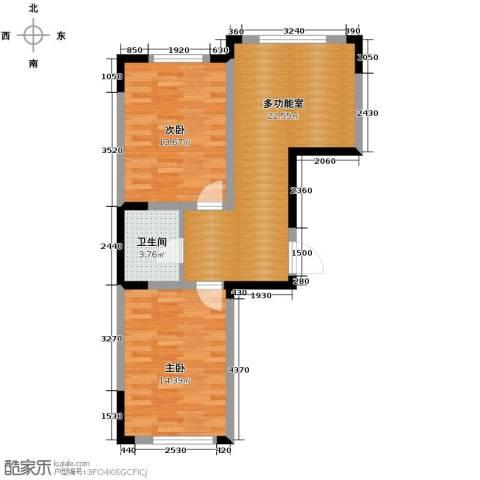 嘉元十方界2室1厅1卫0厨76.00㎡户型图