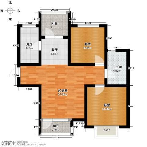 金厦・龙第世家92.00㎡户型图