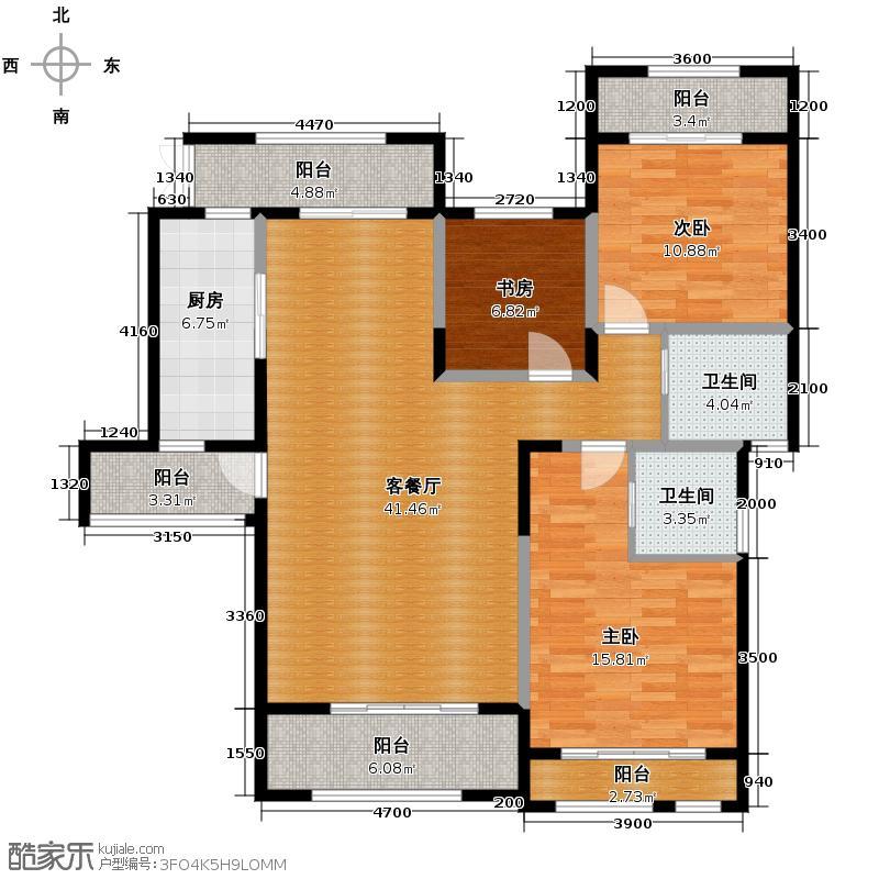 首创德尔菲谷120.50㎡洋房18号1单元6-1户型3室2厅2卫