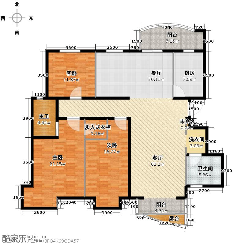 北京太阳城三期175.00㎡P户型10室