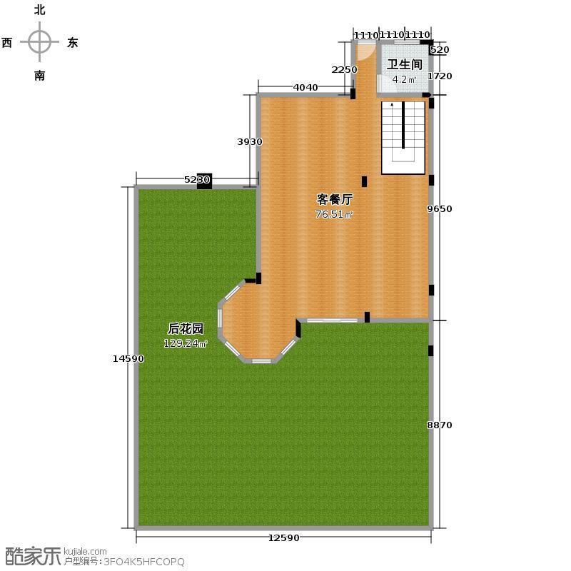 金科廊桥水乡321.00㎡G\'-首层花园平面图户型10室