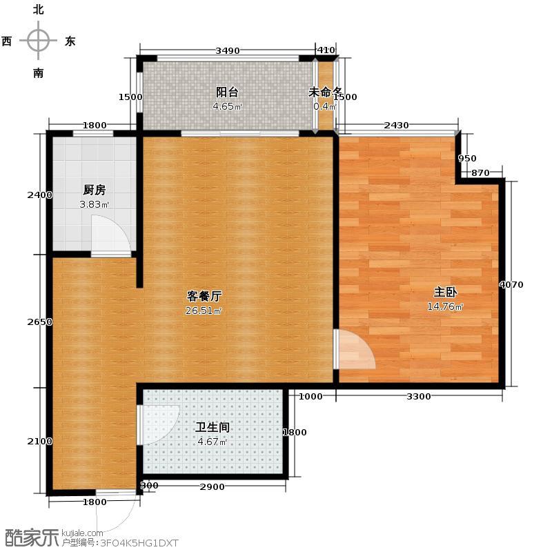 天朗蓝湖树66.00㎡三期E3户型1室1厅1卫