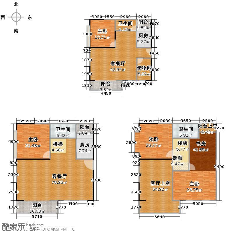 季华金品102.00㎡8座5米层高LOFT01单位户型10室