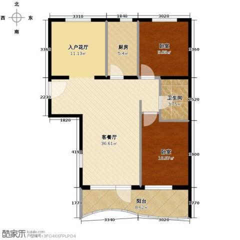 山海同湾2室1厅1卫0厨90.00㎡户型图