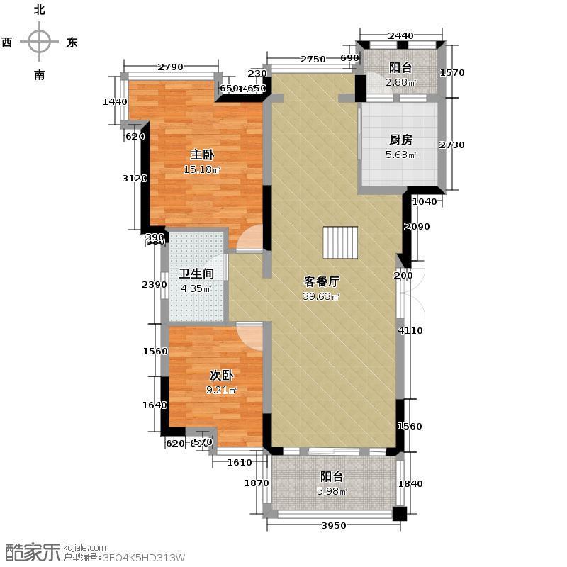 观城142.00㎡一期E6户型4室2厅2卫