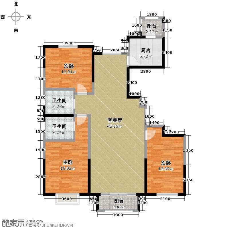 远洋万和城143.90㎡香榭丽舍户型3室2厅2卫