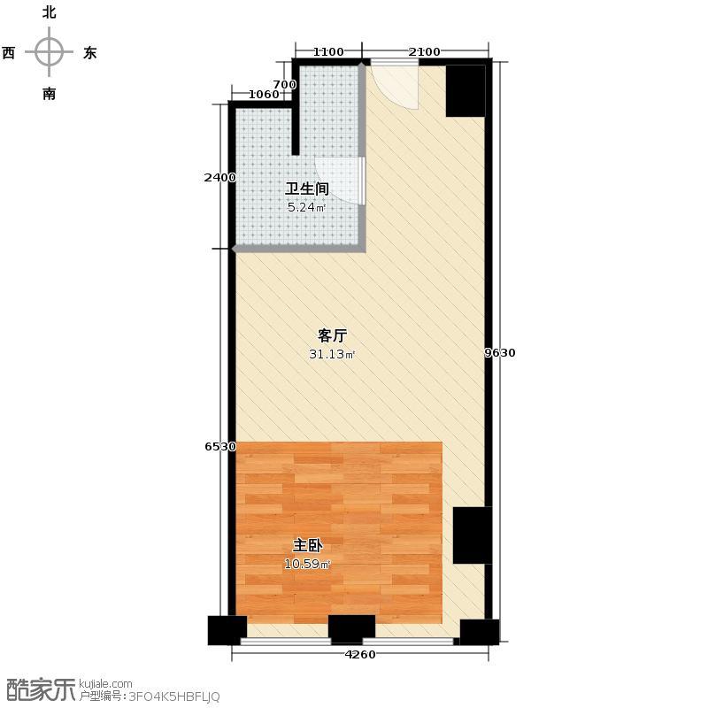 中国窗54.47㎡A1-7户型10室