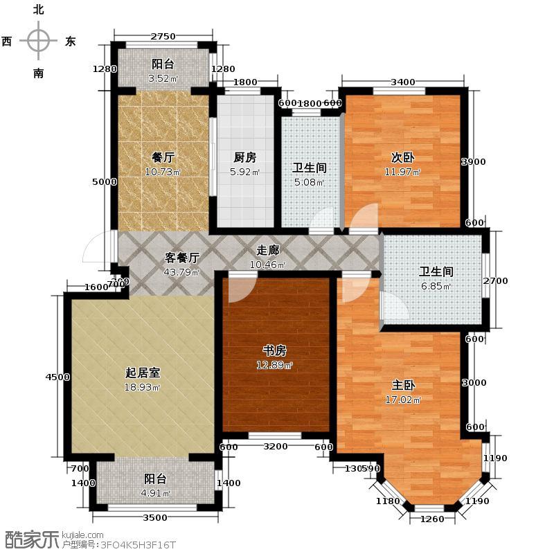 和远领居134.00㎡7、11、14#楼C1户型2室2厅2卫