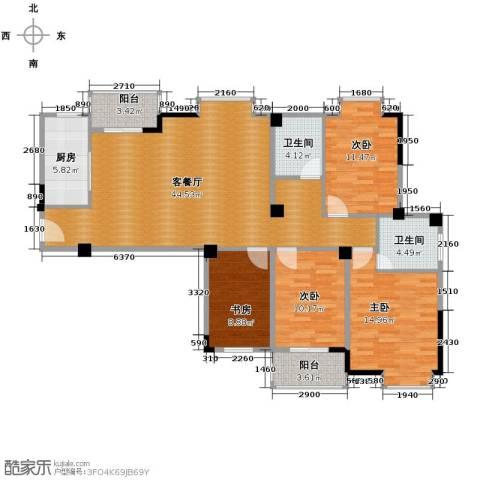 华汉广场4室2厅2卫0厨137.00㎡户型图
