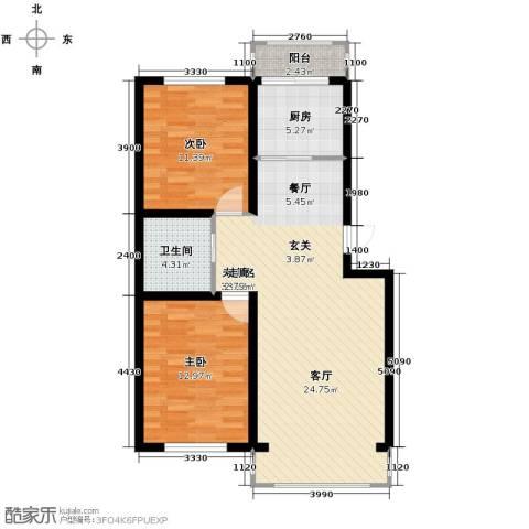塞纳阳光2室2厅1卫0厨89.00㎡户型图