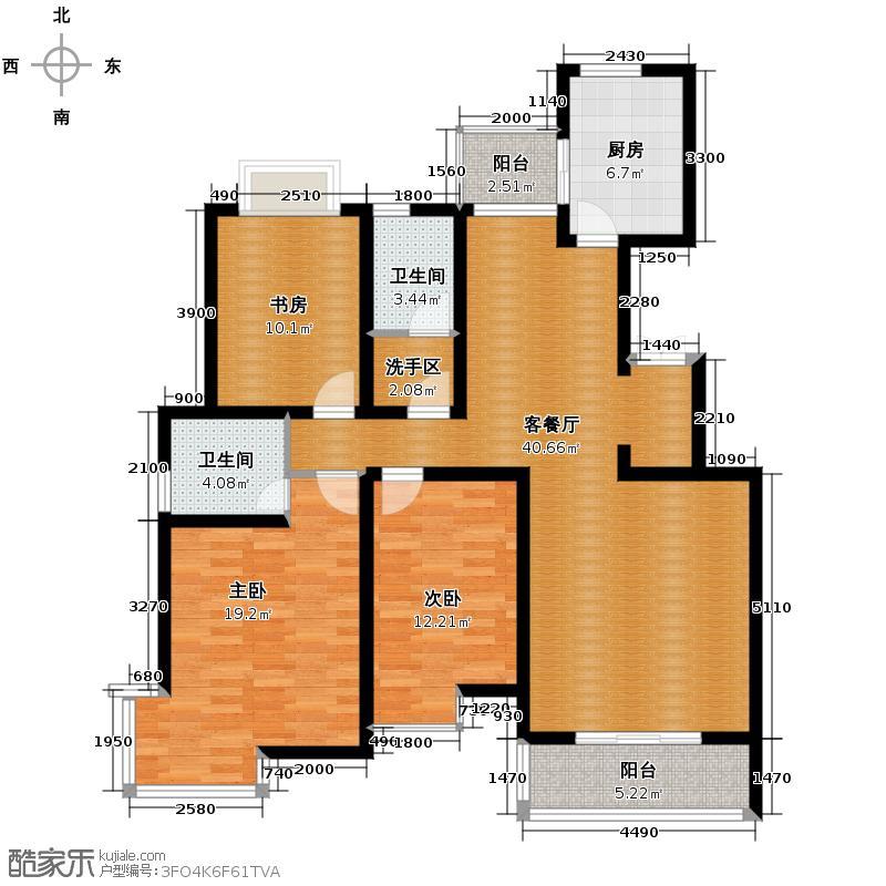 山水泉城122.50㎡M1户型10室
