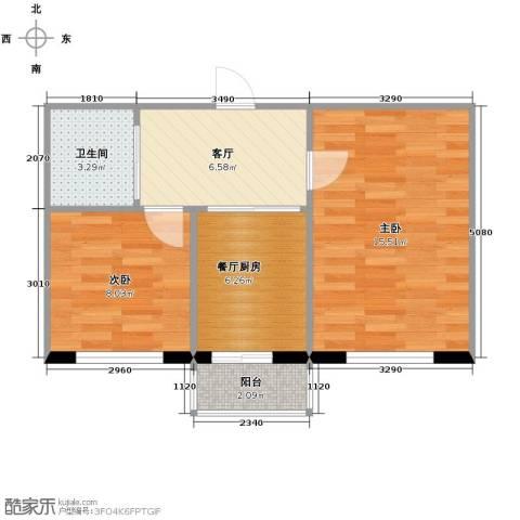 塞纳阳光2室1厅1卫0厨53.00㎡户型图