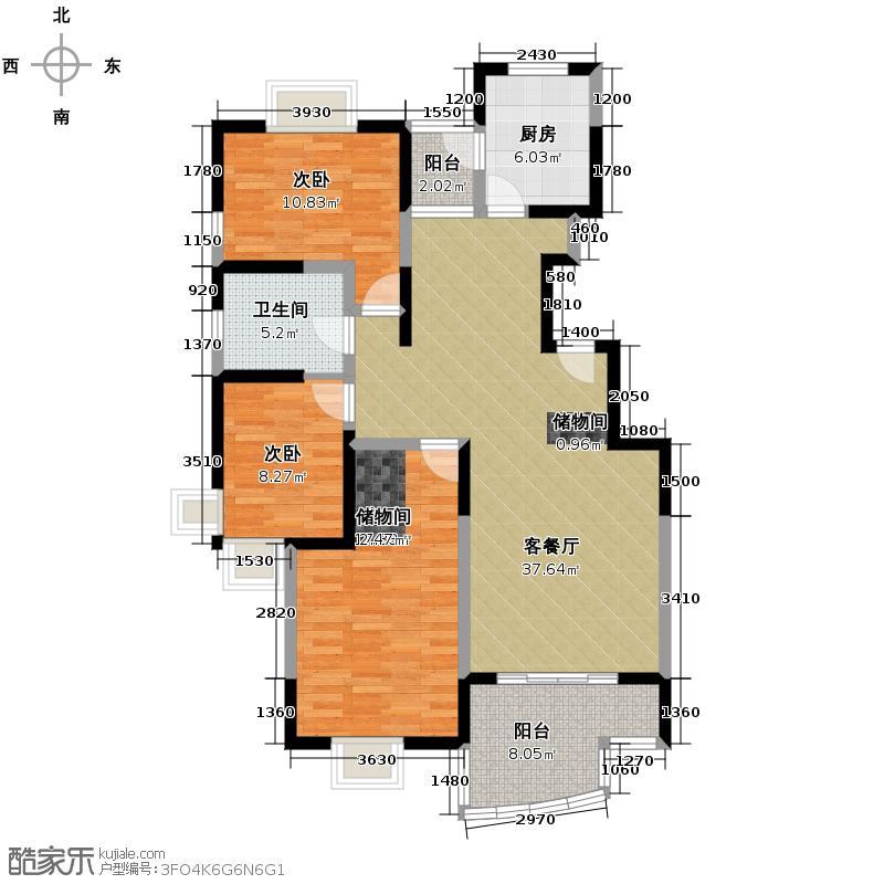 中星海上华庭110.28㎡房型户型10室
