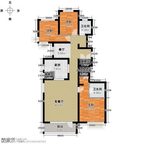 首玺3室3厅2卫0厨157.00㎡户型图