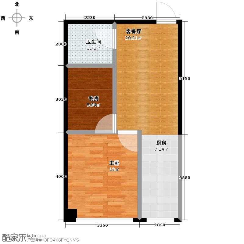 水印蓝庭59.13㎡户型10室