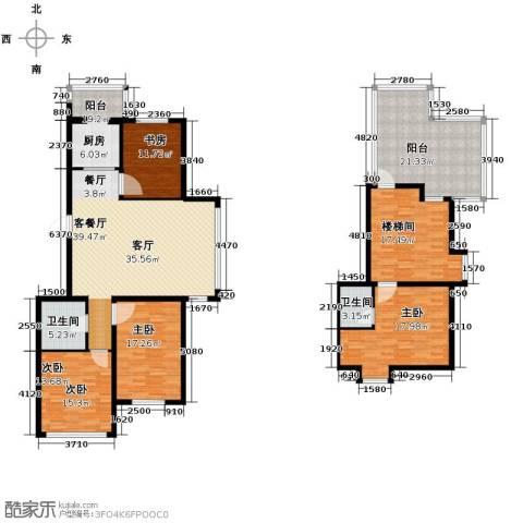 羽丰西江春晓3室1厅2卫0厨154.80㎡户型图