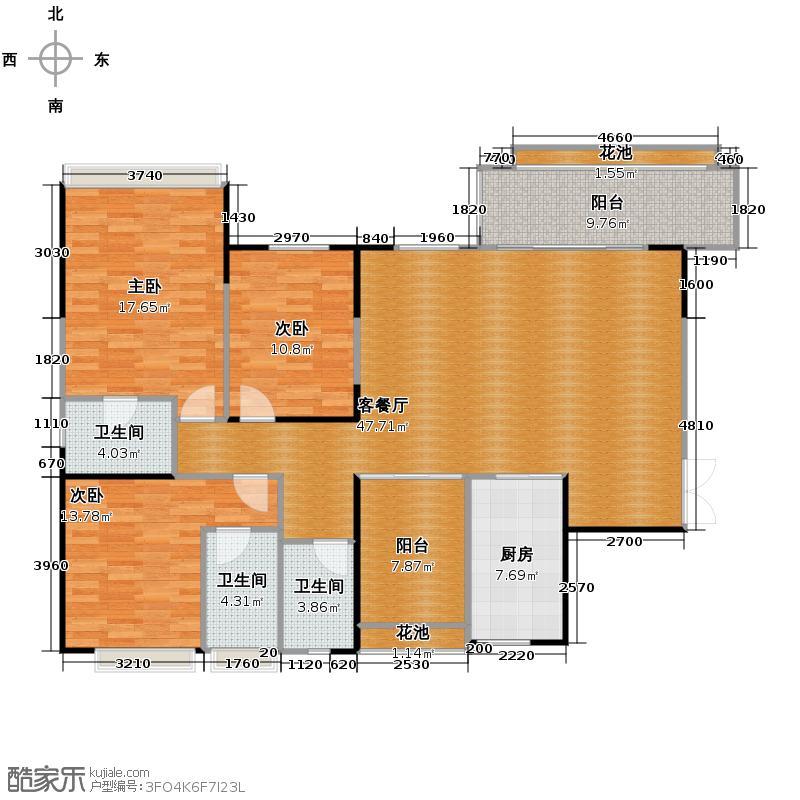 紫檀山161.00㎡3-4号楼户型10室