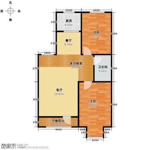 惠盛苑2室0厅1卫1厨97.00㎡户型图