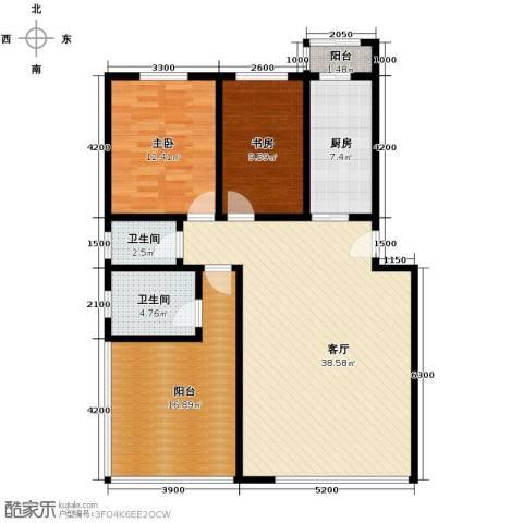 泰和尚都2室1厅2卫1厨103.00㎡户型图