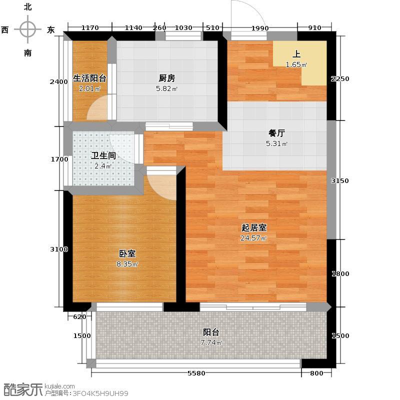 金辉融侨半岛香弥山2号59.97㎡户型10室