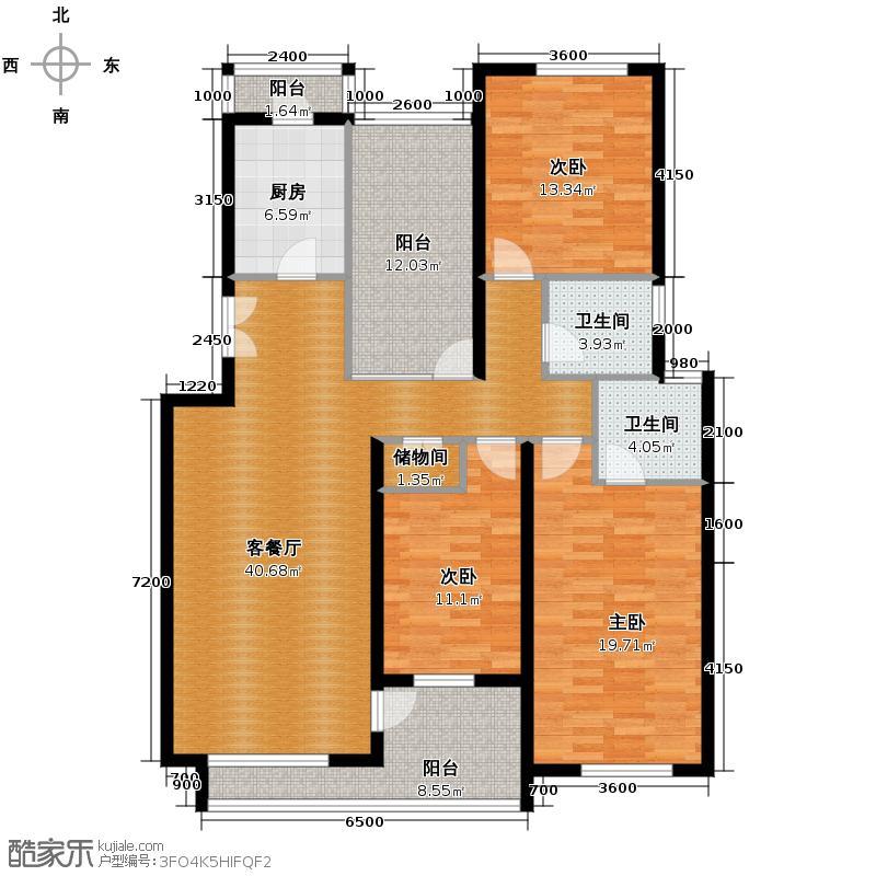 景瑞阳光尚城135.00㎡C2户型10室