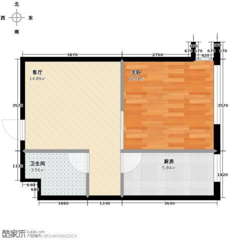 北方尚品1室1厅1卫1厨50.00㎡户型图