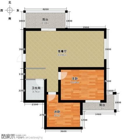 林河春天2室2厅1卫0厨97.00㎡户型图