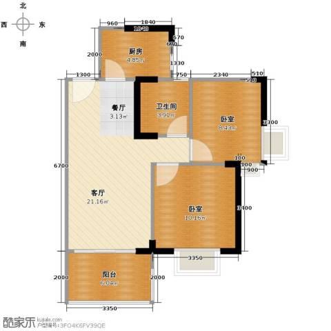 中惠香樟半岛2室2厅1卫0厨73.00㎡户型图