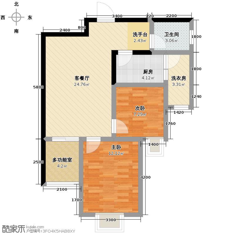 龙城铭园国际社区68.95㎡户型10室