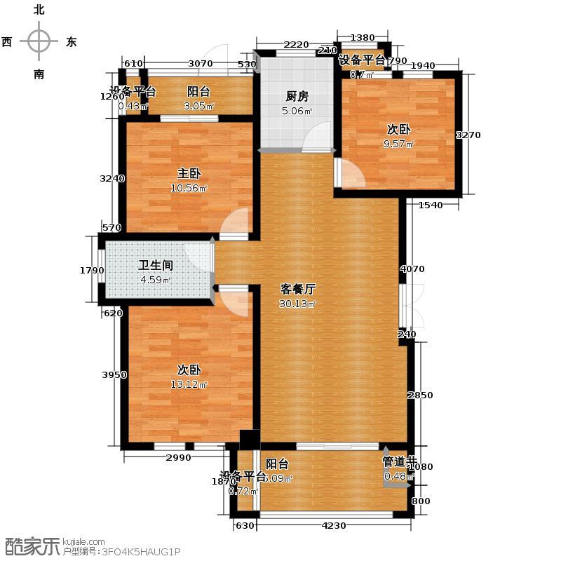 现代森林小镇金融SOHO垂直商业105.00㎡C1户型3室2厅1卫